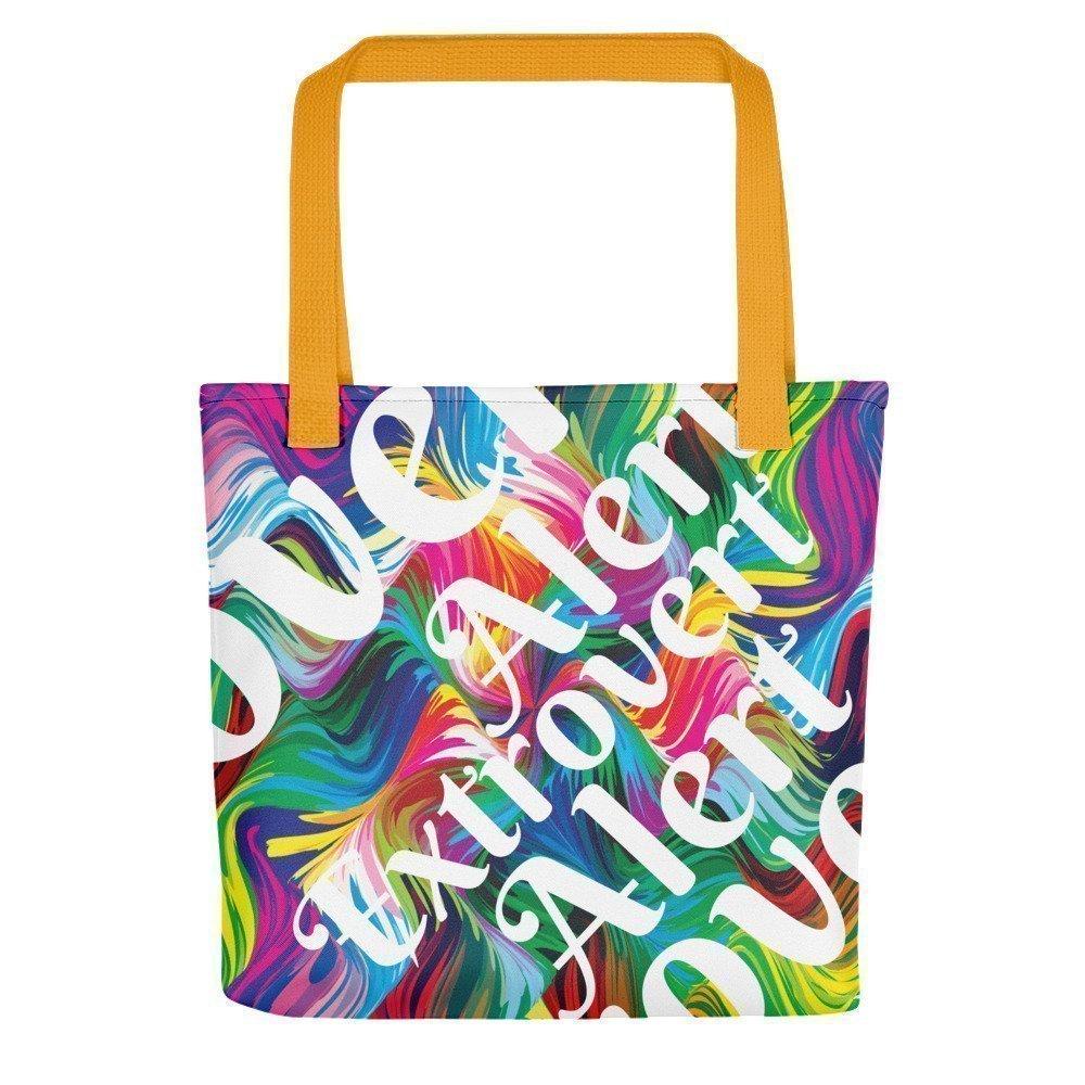 Extrovert Tote Bag  Extrovert Please Disturb  Glitter Tote  Extrovert Bag  Extrovert Gift  Fun Tote Bag  Canvas Tote  Canvas Bag
